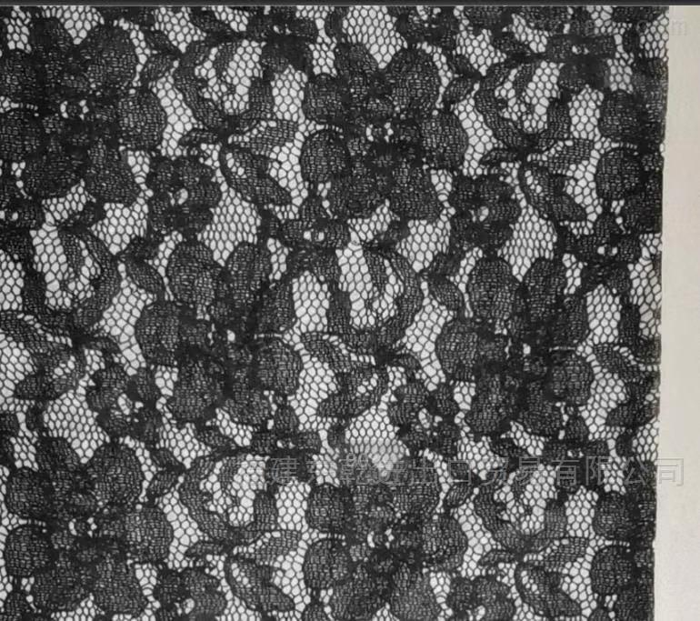 黑色蕾丝水刺布  宽幅170、190  40g无纺布
