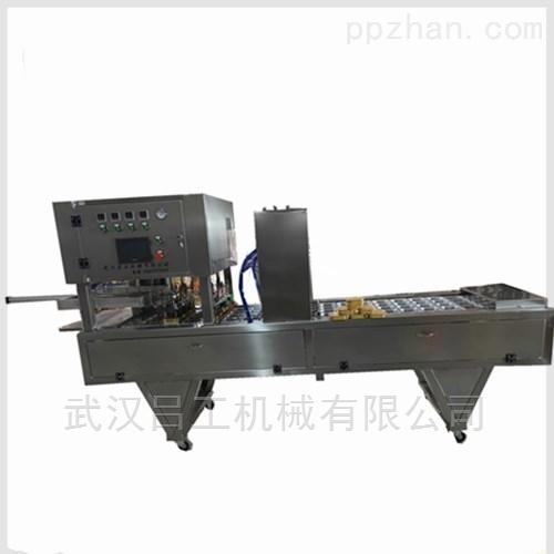 铝箔盒装海鲜汤汁包装机 自动吸片膜封口机
